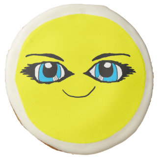 Anime Smiley Face Cookie Sugar Cookie