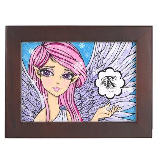 Anime Snow Angel Personalizabel art print Memory Box