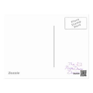 Anime Style Basic Brain-Eye-Sight Diagram Postcard