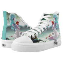 Anime Sunrise Princess Custom Collector Zipz High-Top Sneakers
