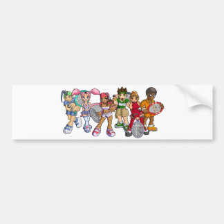 Anime Tennis Characters Bumper Sticker