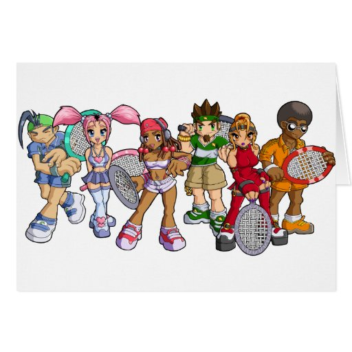 Anime Tennis Characters Cards