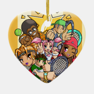 Anime Tennis Characters Ceramic Ornament