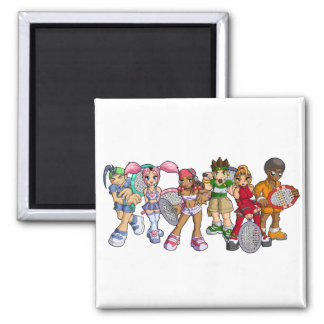 Anime Tennis Characters Magnet