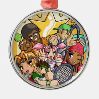 Anime Tennis Characters Metal Ornament