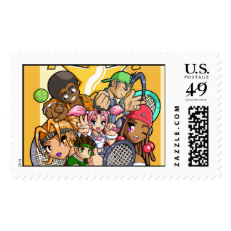 Anime Tennis Characters Postage