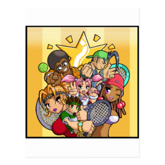 Anime Tennis Characters Postcard