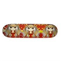 Anime Triple Trouble Girls Skateboard