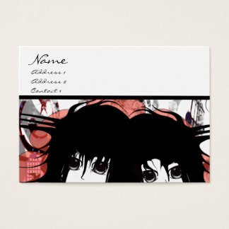 Anime Twin BFF Best Friends Hair Stylist Business Card