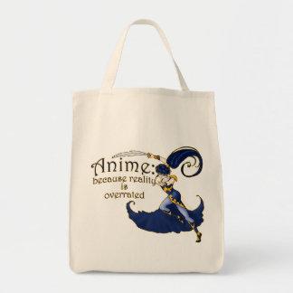 Anime VS Reality Tote Bags
