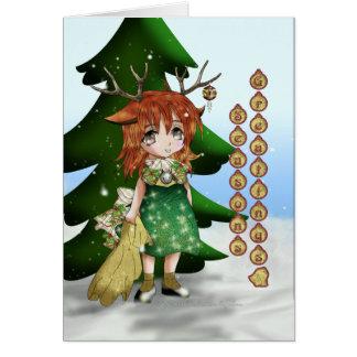 Anime Wee Deer Card