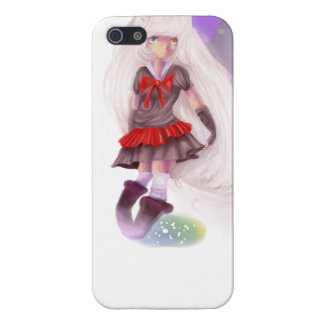 Anime Wolf Girl with Pink Hair Case For iPhone 5