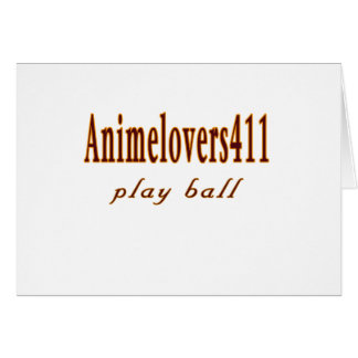 Animelovers411 Baseball games Card