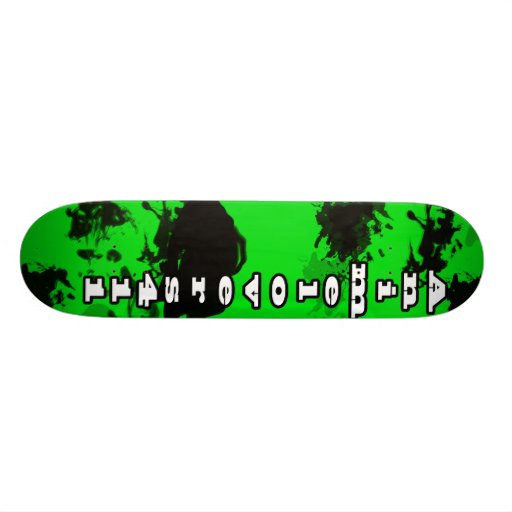 Animelovers411 hollow green skateboard