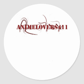Animelovers411 Punk Out Classic Round Sticker