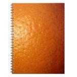 Ánimo anaranjado libro de apuntes con espiral