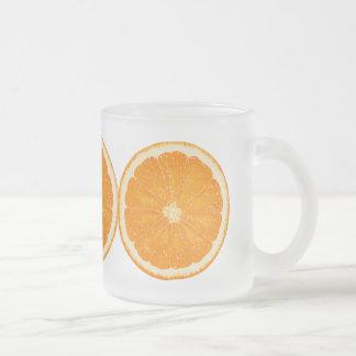 ánimo anaranjado taza de cristal