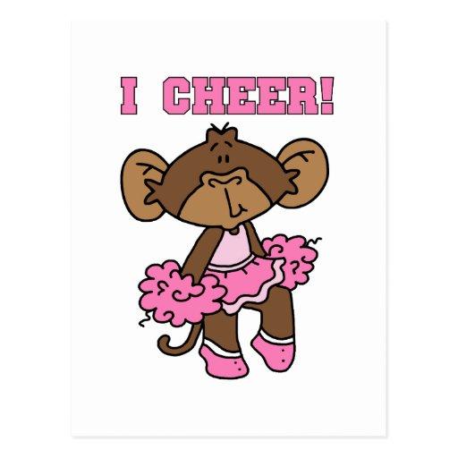 Animo las camisetas y los regalos rosados postal