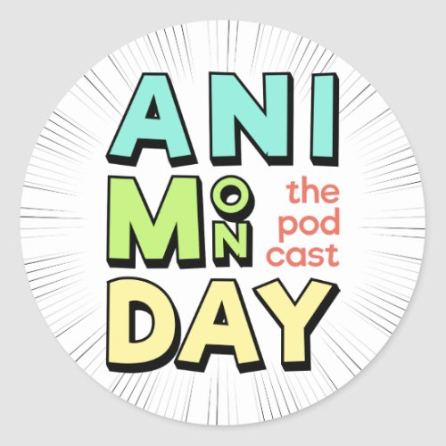 AniMonday Round Stickers
