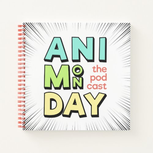 AniMonday Spiral Notebook (Square)