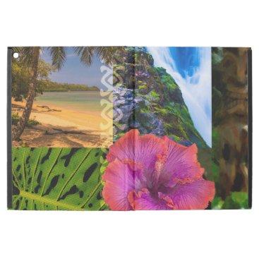 Beach Themed Anini Beach, Kauai Hawaiian Collage iPad Pro Case