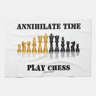 Aniquile el ajedrez del juego del tiempo el juego toalla de mano