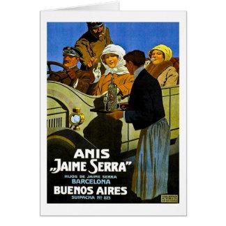 Anis Jaime Serra Buenos Aires - anuncio del Tarjeta De Felicitación