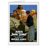 Anis Jaime Serra Buenos Aires Tarjeta De Felicitación