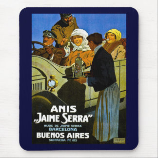 Anis Jaime Serra Buenos Aires - Vintage Ad Mouse Pad