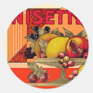 Anisette Classic Round Sticker