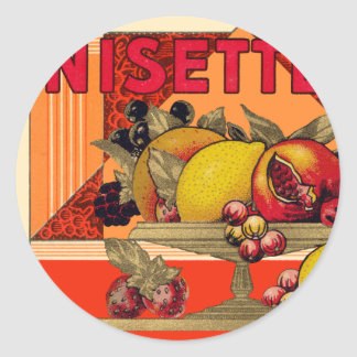 Anisette Still Life Classic Round Sticker