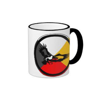 Anishinaabe Dodem Giniw Ringer Coffee Mug