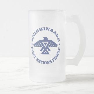 Anishinaabe (Ojibwe, Chippewa) Frosted Glass Beer Mug