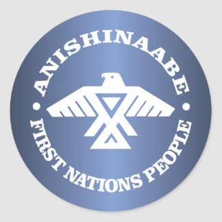 Anishinaabe (Ojibwe, Chippewa) Pegatina Redonda