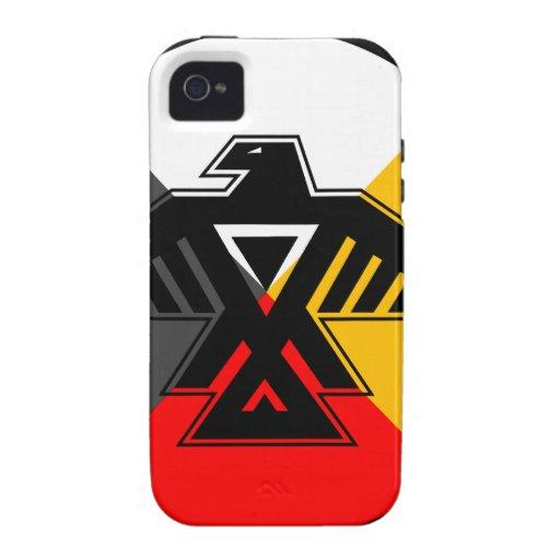 Anishinaabe Thunderbird en las cuatro direcciones iPhone 4/4S Carcasa