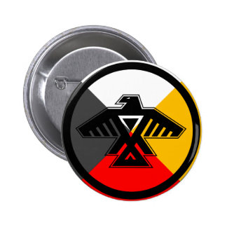 Anishinaabe Thunderbird in the Four Directions Button