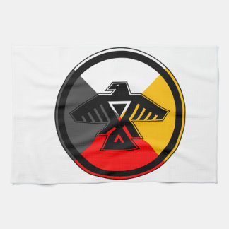 Anishinaabe Thunderbird in the Four Directions Kitchen Towels