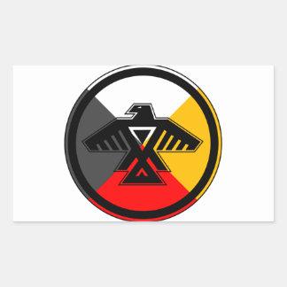 Anishinaabe Thunderbird in the Four Directions Rectangular Sticker
