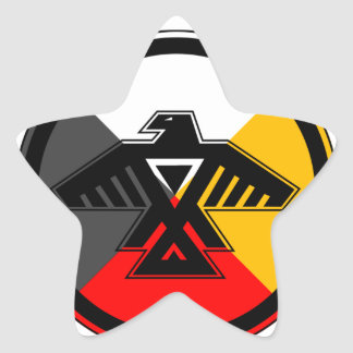 Anishinaabe Thunderbird in the Four Directions Star Sticker