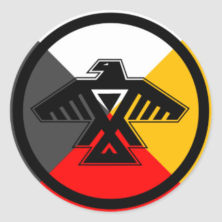 Anishinabek Dodem & 4 Directions Sticker