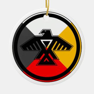 Anishinabek Nation Double-Sided Ceramic Round Christmas Ornament