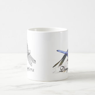Anisoptera dragonfly drawing coffee mug