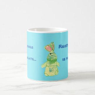 Anita Bunny Chocolate Blue Morphing Mug