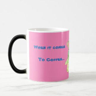 Anita Bunny Coffee Pink Morphing Mug