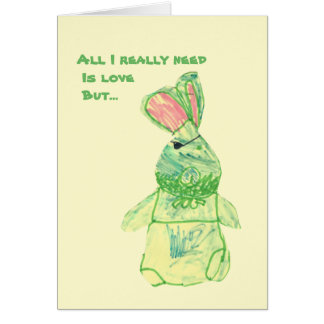 """Anita Bunny """"Funny"""" Card Vertical All Sizes"""