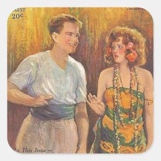 Anita Stewart 1925 vintage movie magazine Square Sticker
