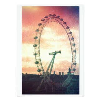 Anitiqued London Eye at Sunrise 5.5x7.5 Paper Invitation Card