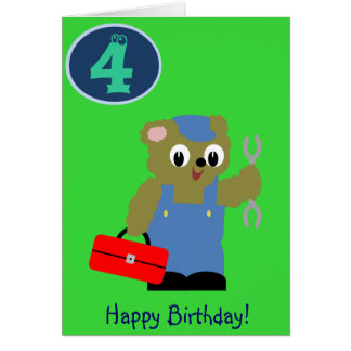 Anivalley Billy Bear Card