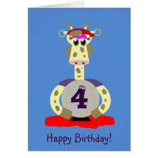 Anivalley Gina Giraffe Card