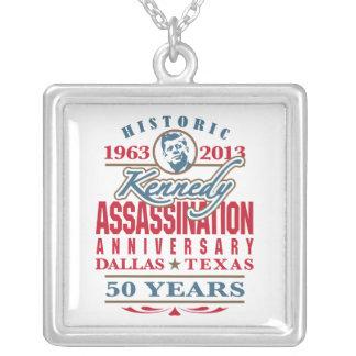 Aniversario 1963 - 2013 del asesinato de JFK Kenne Collar Plateado